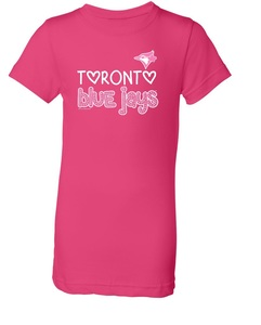 Toronto Blue Jays Youth Sequin T-Shirt Rasberry by Soft As a Grape