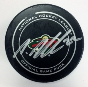 Minnesota Wild #22 Nino Niederreiter Game Used Goal Puck Feb. 4, 2014 vs. Lightning