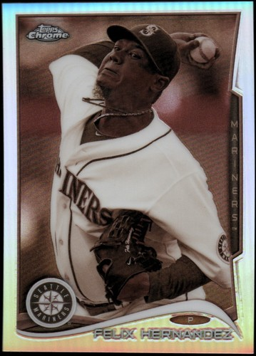 Photo of 2014 Topps Chrome Sepia Refractors #61 Felix Hernandez