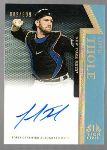 Photo of 2011 Topps Tier One On The Rise Autographs #JT Josh Thole/999
