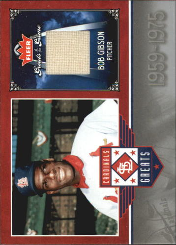 Photo of 2006 Greats of the Game Cardinals Greats Memorabilia #BG Bob Gibson Pants