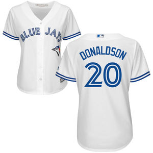 Women's Josh Donaldson Replica Home Jersey by Majestic