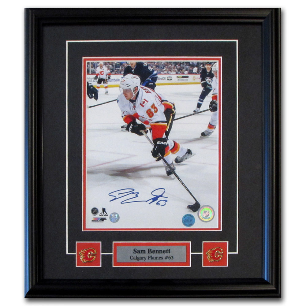 Sam Bennett Autographed Calgary Flames Framed 8X10 Photo