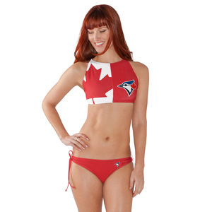 Toronto Blue Jays Women's Canadian Flag Bikini Swimsuit by G-III