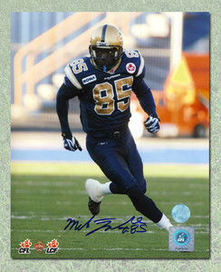 Milt Stegall Winnipeg Blue Bombers Autographed CFL Football 8x10 Photo