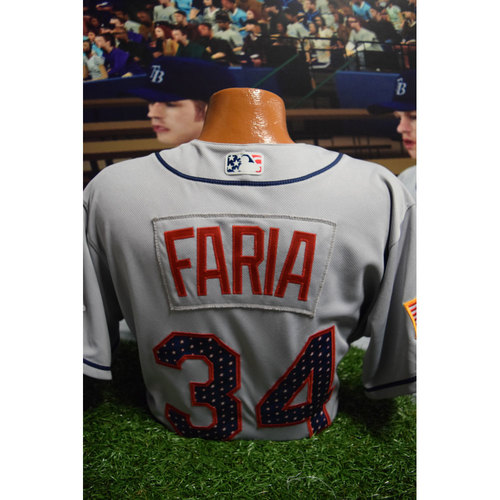 Photo of 2017 Game-Used July 4th Jersey: Jacob Faria
