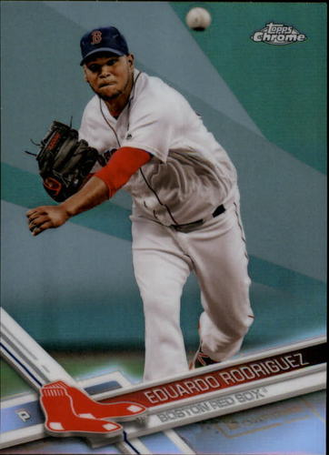 Photo of 2017 Topps Chrome Refractors #185 Eduardo Rodriguez