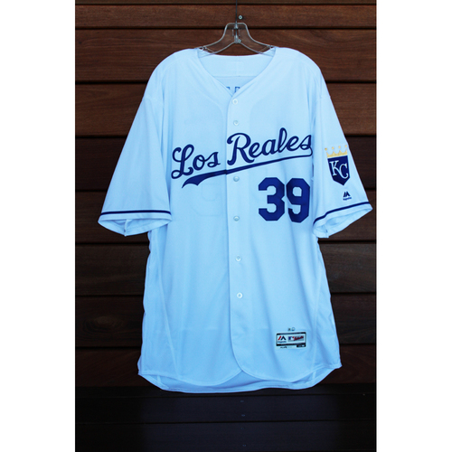 Photo of Game-Used Jason Hammel Los Reales Jersey (Size 48 - TOR at KC - 6/24/17)