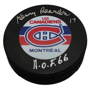 Kenny Reardon Autographed Montreal Canadians Puck