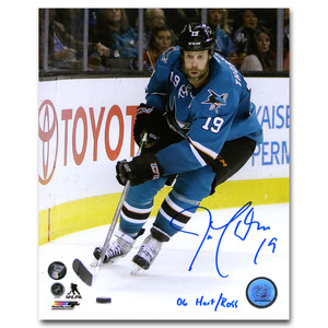 Joe Thornton Autographed San Jose Sharks 8X10 Photo w/06 HART/ROSS Inscription