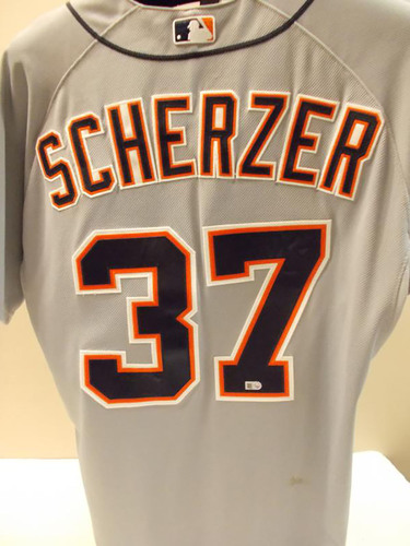 Photo of Game-Used Max Scherzer Road Jersey