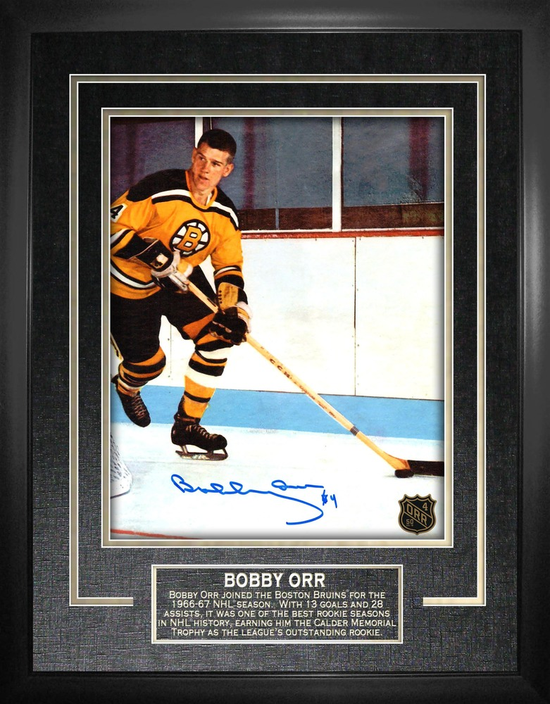 Bobby Orr - Signed & Framed 8x10