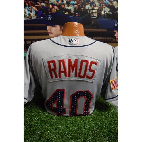 Photo of 2017 Game-Used July 4th Jersey: Wilson Ramos