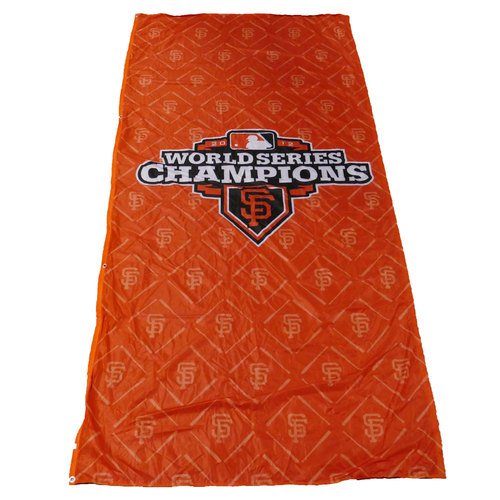 Photo of San Francisco Giants - 2012 World Series Champions Cloth Banner (Orange - Portrait)