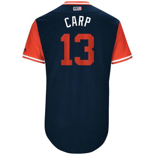"Photo of Matt ""Carp"" Carpenter St. Louis Cardinals Game-Used Players Weekend Jersey"