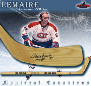 JACQUES LEMAIRE Signed CCM Stick - Montreal Canadiens