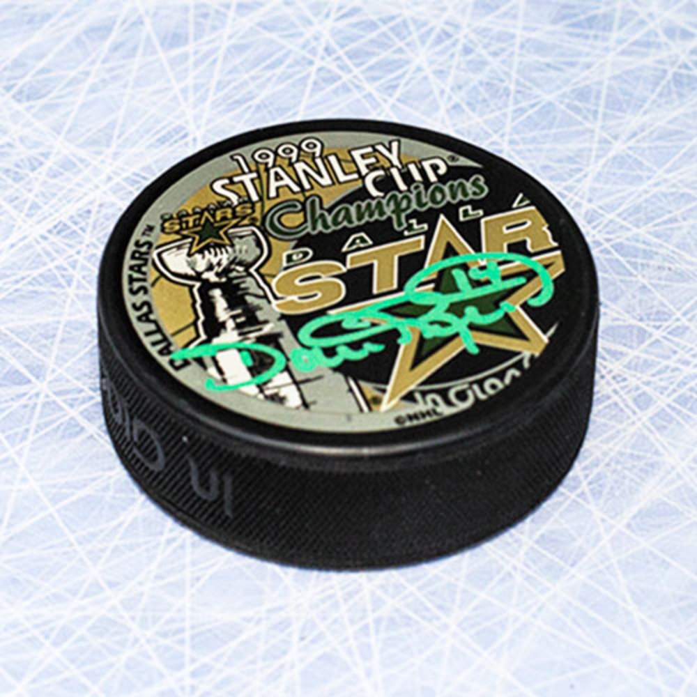 Dave Reid Dallas Stars Autographed 1999 Stanley Cup Hockey Puck
