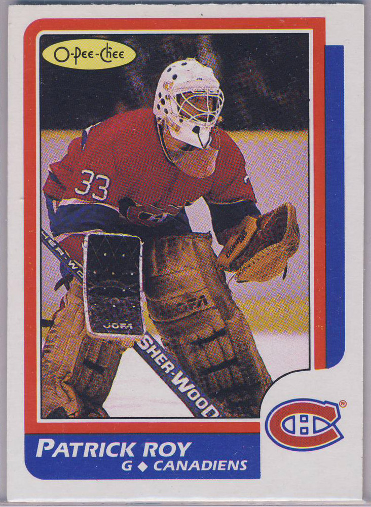 1986-87 OPC #53 PATRICK ROY Montreal Canadiens NM Rookie Card