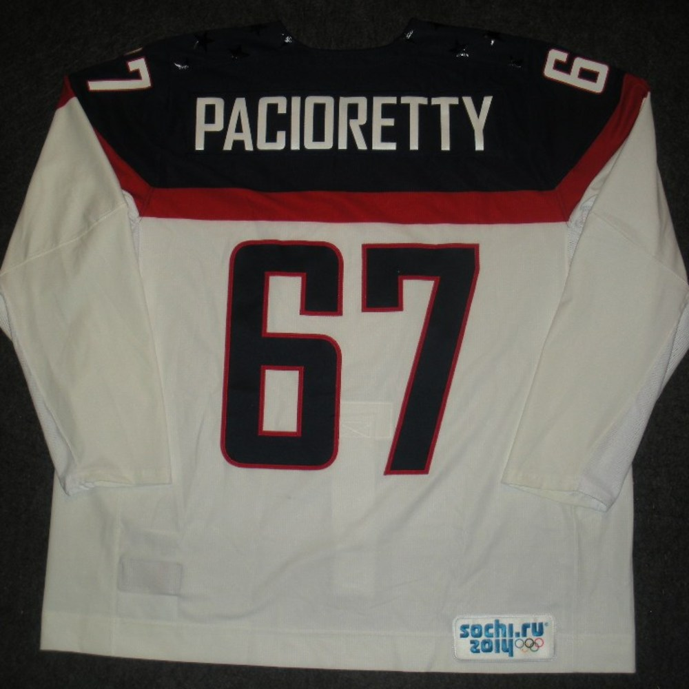 Max Pacioretty - Sochi 2014 - Winter Olympic Games - Team USA White Game-Worn Jersey - Worn in Warmups and 1st Period vs. Slovakia, 2/13/14