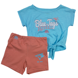 Toddler/Kids Tiny Training Shorts Set Pink/Blue by Majestic