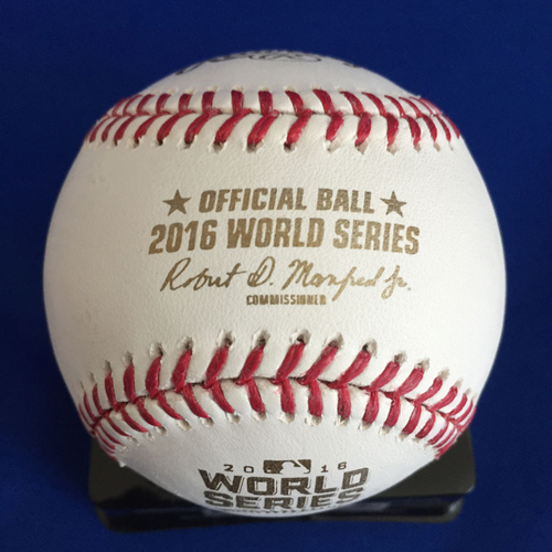 Photo of UMPS CARE AUCTION: 2016 World Series Chris Guccione Signed Baseball