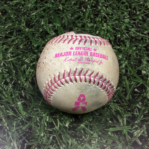 Game-Used Mother's Day Baseball NYM@MIL 05/14/17 - Jacob deGrom to Jonathan Villar: Groundout