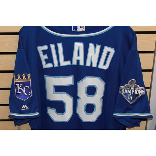Photo of Game-Used Dave Eiland Jersey (Size 48) (9/24/16 KC @ DET)