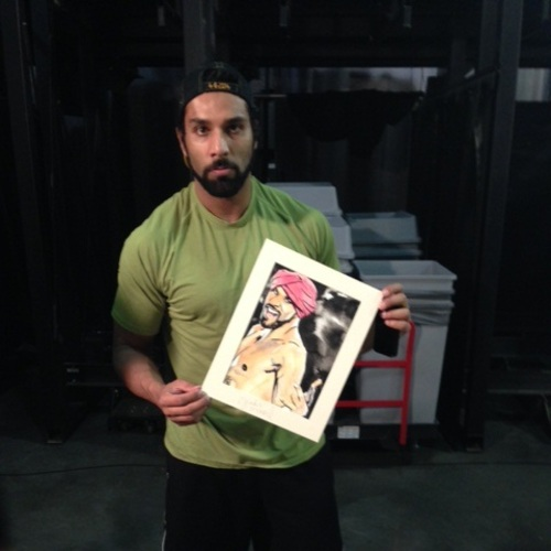 Jinder Mahal Signed Painting by Rob Schamberger
