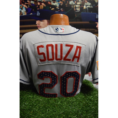 Photo of 2017 Game-Used July 4th Jersey: Steven Souza Jr.