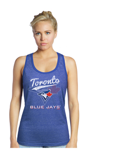 Toronto Blue Jays Women's Triblend Racerback Tank by Majestic