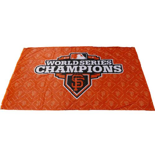 Photo of San Francisco Giants - 2012 World Series Champions Cloth Banner (Orange - Landscape)