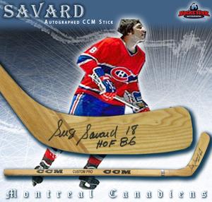 SERGE SAVARD Signed CCM Stick - Montreal Canadiens
