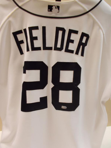 Photo of Game-Used Prince Fielder Home Jersey