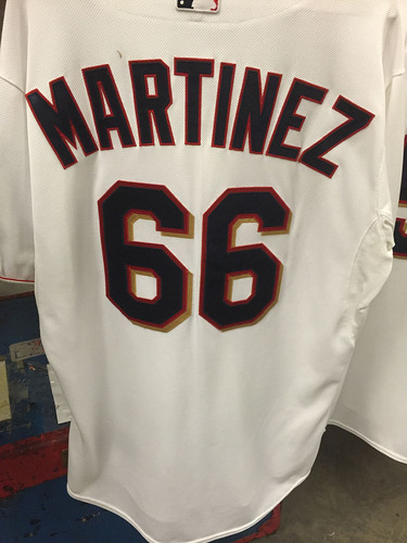 Photo of Jose Martinez #66 - 2015 Team-Issued Home White Jersey