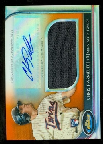 Photo of 2012 Finest Rookie Jumbo Relic Autographs Orange Refractors #CP Chris Parmelee