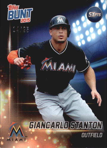 Photo of 2015 Topps Bunt Player Code Cards #GS Giancarlo Stanton