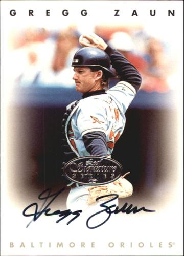 Photo of 1996 Leaf Signature Autographs Silver #252 Greg Zaun