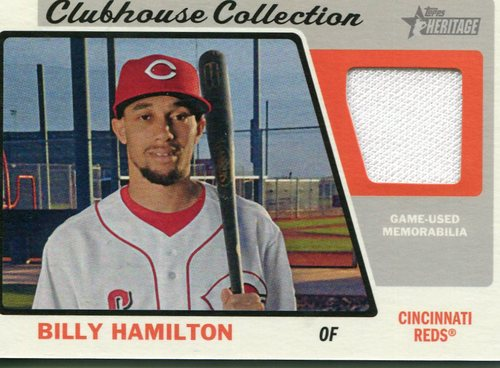 Photo of 2015 Topps Heritage Clubhouse Collection Relics #CCRBHA Billy Hamilton