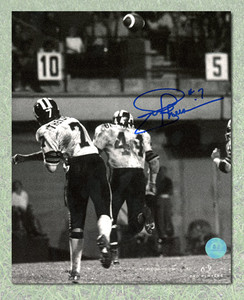 Joe Theismann Toronto Argonauts Autographed Throwing 8x10 Photo