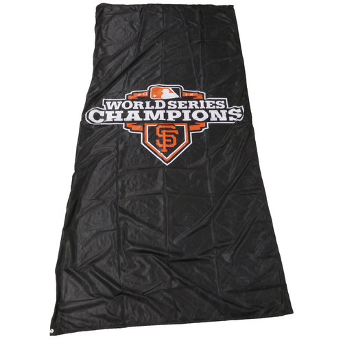 Photo of San Francisco Giants - 2012 World Series Champions Cloth Banner (Black - Portrait)