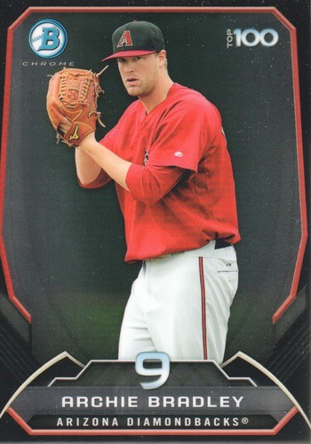 Photo of 2014 Bowman Chrome Top 100 Prospects #BTP9 Archie Bradley -- D'backs post-season