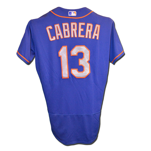 Asdrubal Cabrera #13 - Game Used Blue Alternate Road Jersey - Cabrera Goes 2-4 - Mets vs. Phillies - 9/29/17