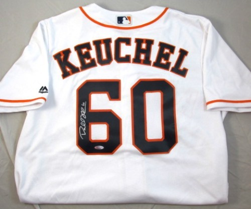 Photo of Dallas Keuchel Autographed White Astros Jersey