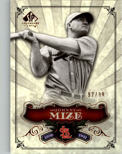 Photo of 2006 SP Legendary Cuts Bronze #189 Johnny Mize