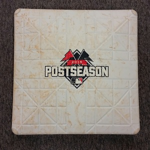 Authenticated Game-Used 1st Base from Oct 20, 2015 vs KC Royals - used for innings 8-9. (2015 ALCS Game 4) - peg not included with base.
