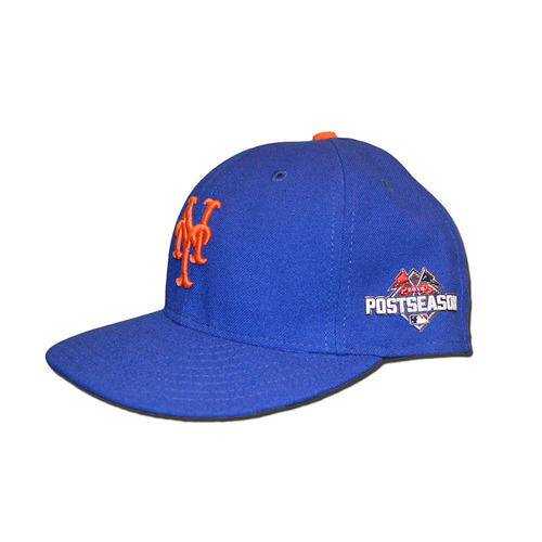 Photo of Kevin Plawecki #22 - Game Used Blue Hat - Worn During NLDS Game 4 - Worn During NLCS Game 4 - Mets Clinch NL Pennant - 2015 Postseason