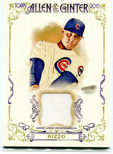 Photo of 2015 Topps Allen and Ginter Relics #FSRAAR Anthony Rizzo A