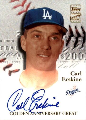 Photo of 2001 Topps Golden Anniversary Autographs #GAACE Carl Erskine D2