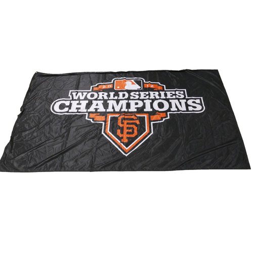 Photo of San Francisco Giants - 2012 World Series Champions Cloth Banner (Black - Landscape)