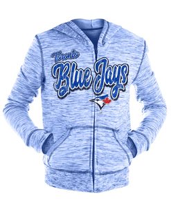 Toronto Blue Jays Youth Space Dye Fench Terry Full Zip Hoody by New Era